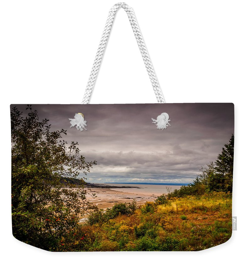 Canada Weekender Tote Bag featuring the photograph Joggins Beach by Mark Llewellyn