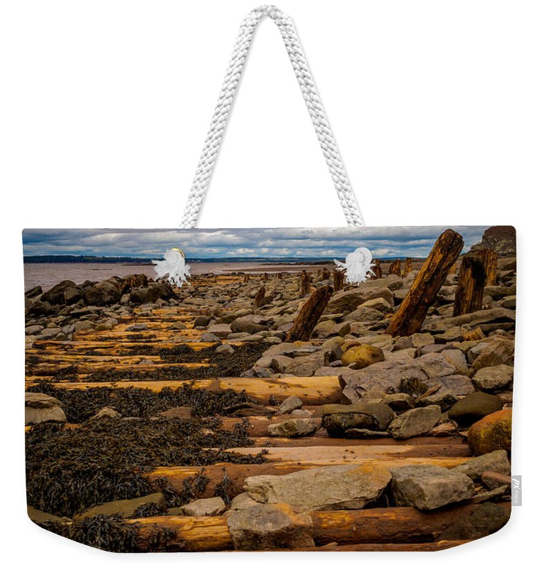 Canada Weekender Tote Bag featuring the photograph Joggins Fossil Cliffs by Mark Llewellyn