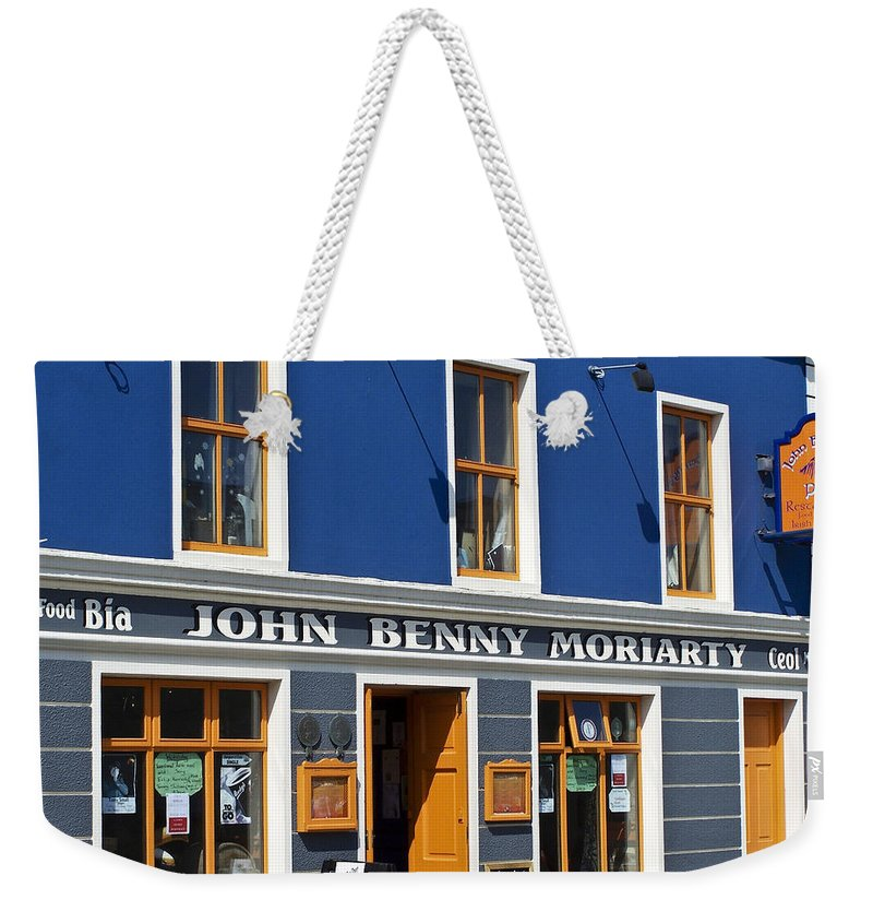 Irish Weekender Tote Bag featuring the photograph John Benny by Teresa Mucha