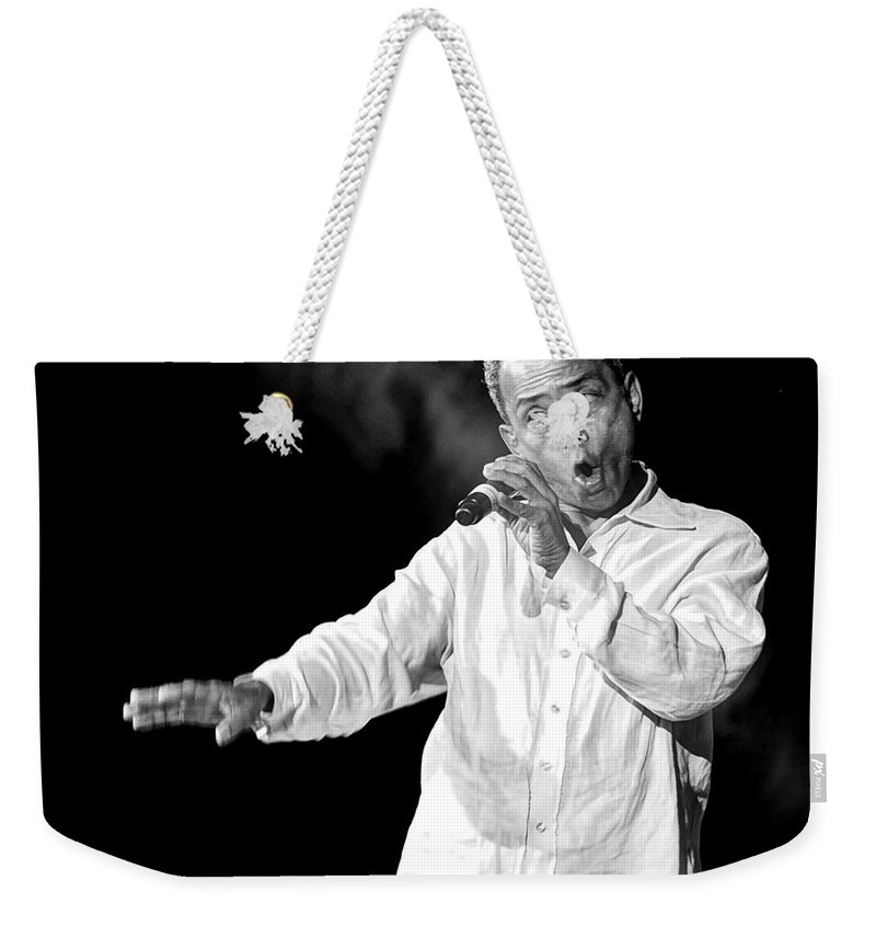Jazz Weekender Tote Bag featuring the photograph John Boutte II by William Morgan