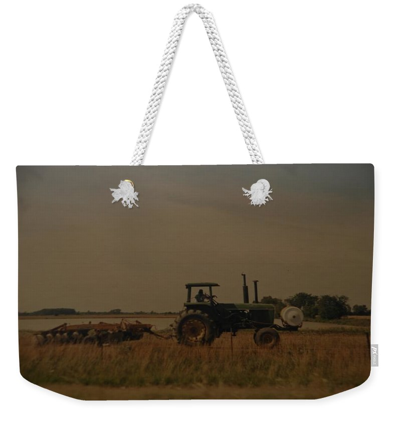 Arkansas Weekender Tote Bag featuring the photograph John Deere Arkansas by Rob Hans