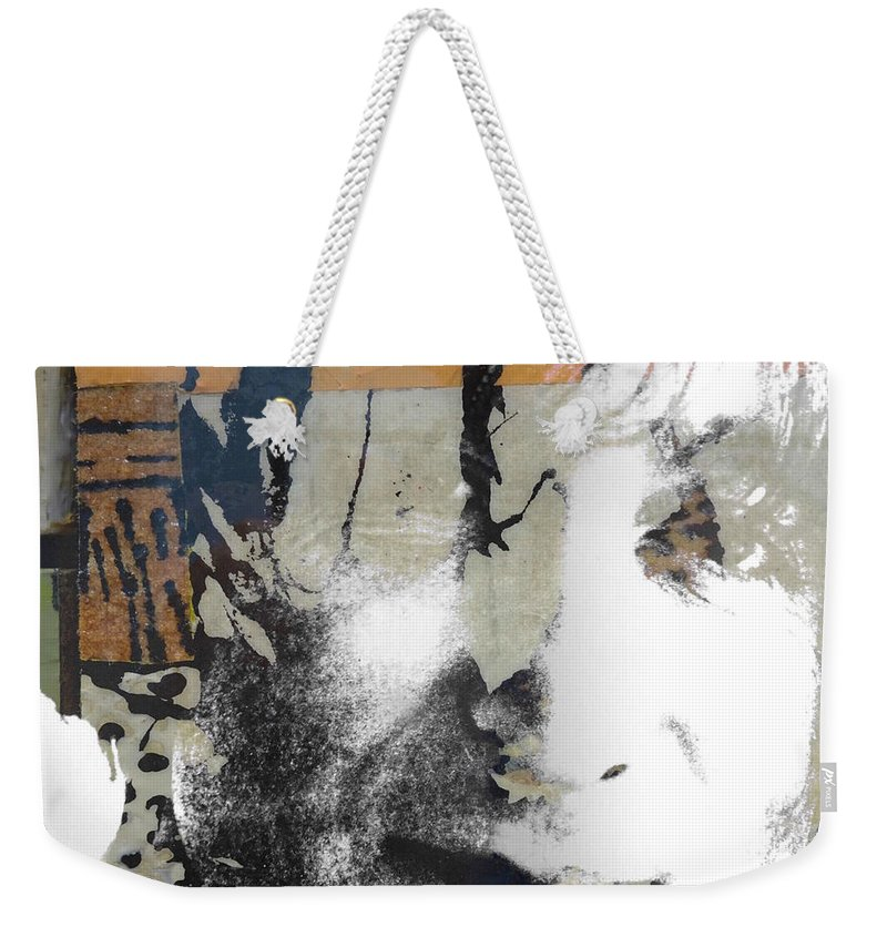 The Beatles Weekender Tote Bag featuring the digital art John Lennon - In My Life by Paul Lovering