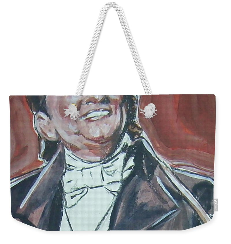 Johnny Cash Weekender Tote Bag featuring the painting Johnny Cash by Bryan Bustard