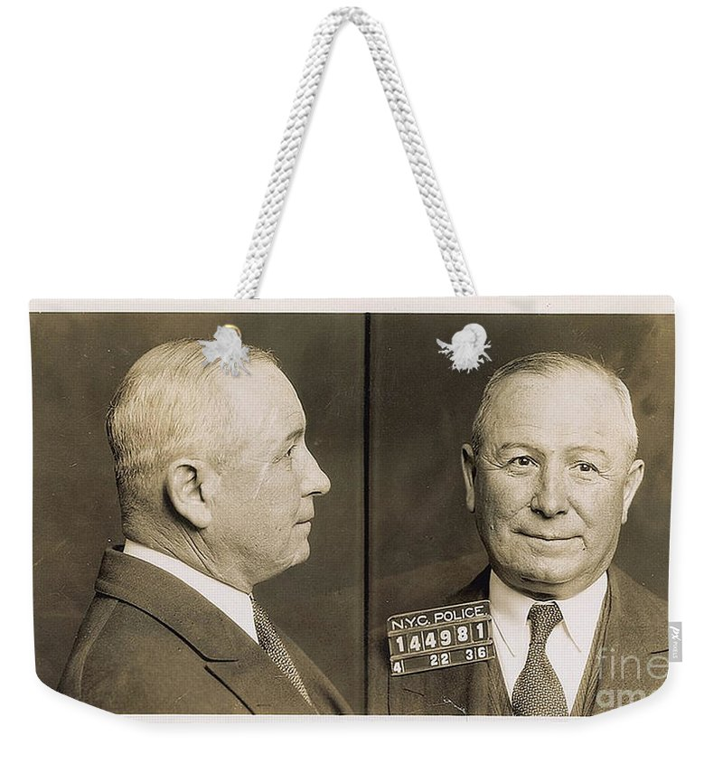 Johnny Torrio Weekender Tote Bag featuring the photograph Johnny Torrio by R Muirhead Art