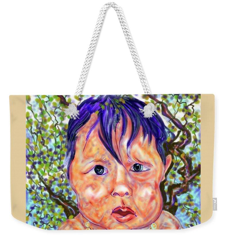 Digital Art Weekender Tote Bag featuring the digital art Jojo by Angela Weddle
