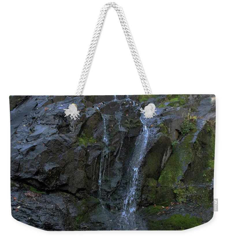 Waterfall Weekender Tote Bag featuring the photograph Jones Falls by Paul A Williams