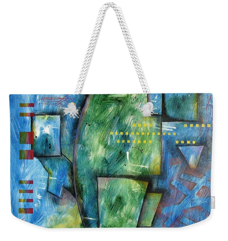 Abstract Weekender Tote Bag featuring the painting Jorek Rise by David Stroker