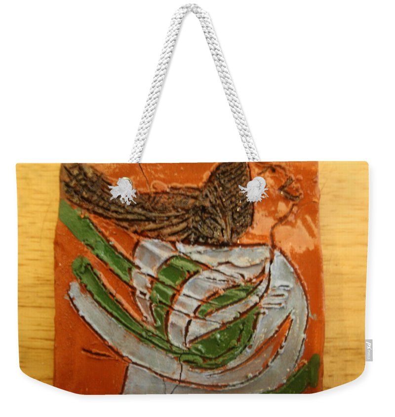 Jesus Weekender Tote Bag featuring the ceramic art Josephine - Tile by Gloria Ssali