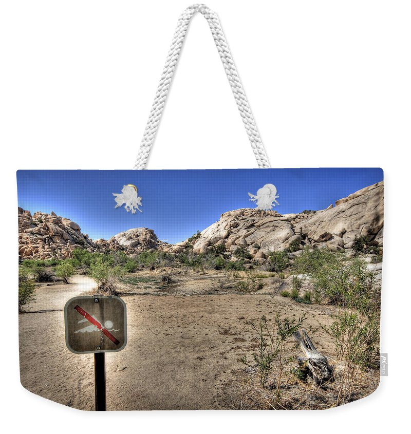 Barker Dam Weekender Tote Bag featuring the photograph Joshua Tree 30 by Jessica Velasco