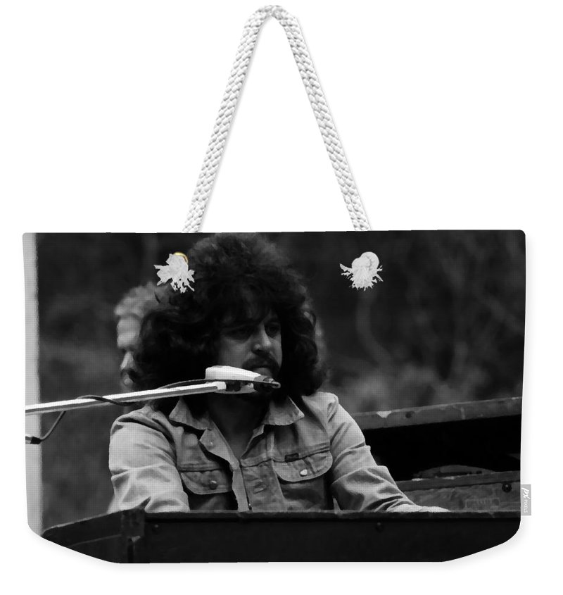 Gregg Rolie Weekender Tote Bag featuring the photograph Journey #17 Enhanced Bw by Ben Upham