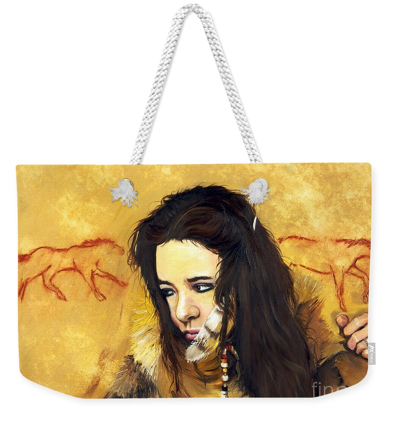 Southwest Art Weekender Tote Bag featuring the painting Journey by J W Baker