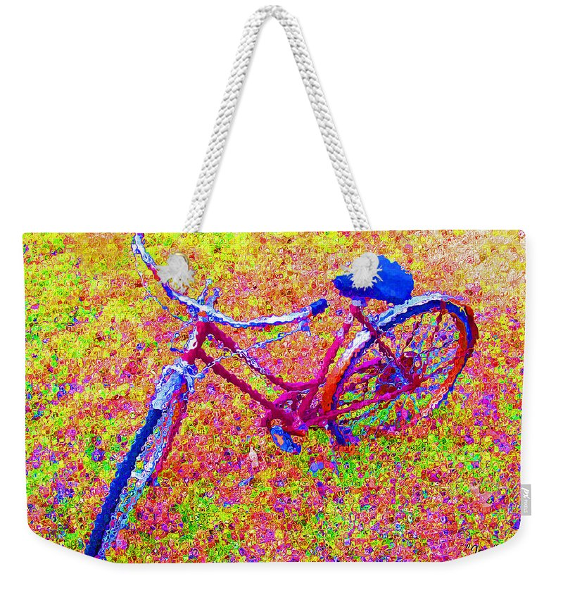 Bike Weekender Tote Bag featuring the photograph Joy, The Bike Ride by Albert Stewart