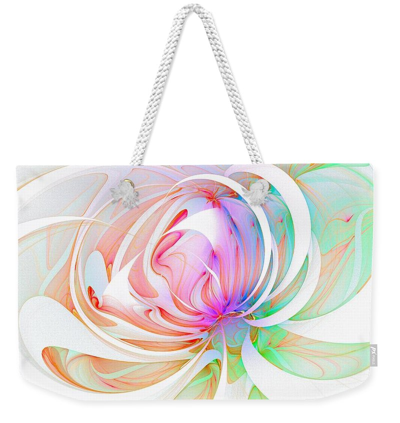 Digital Art Weekender Tote Bag featuring the digital art Joy by Amanda Moore