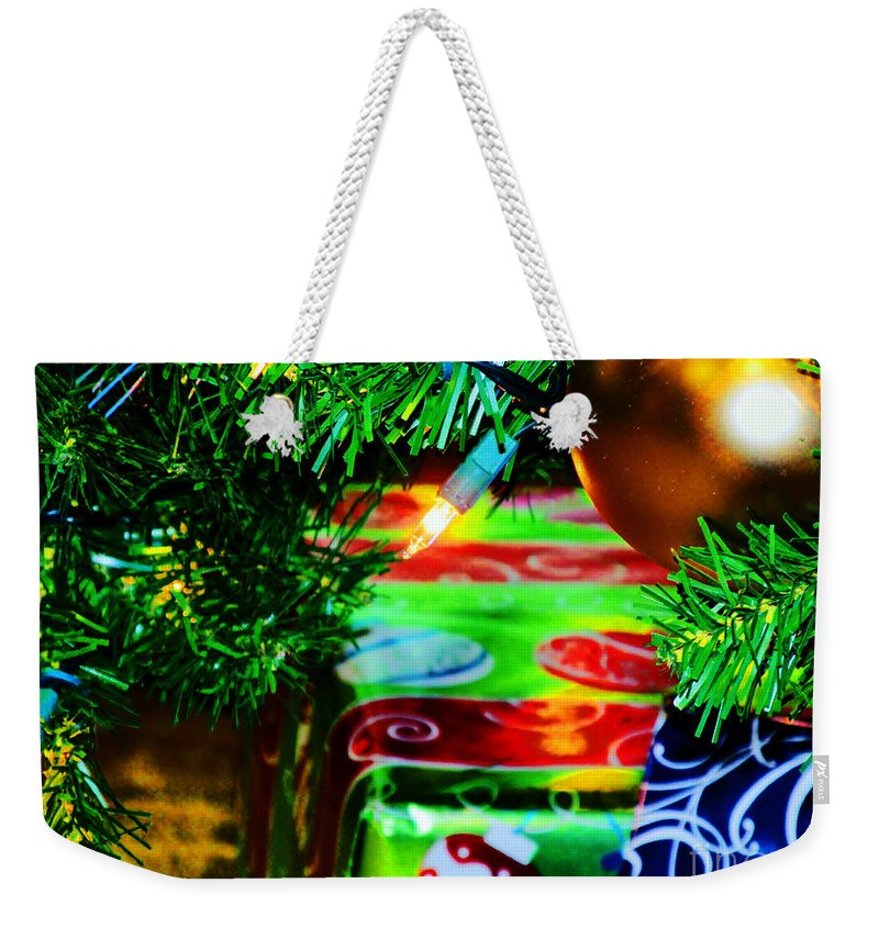 Christmas Weekender Tote Bag featuring the photograph Joy Of Christmas 1 by Don Baker