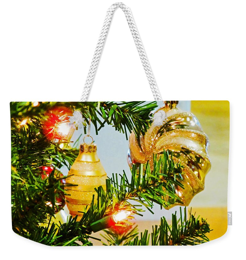 Christmas Weekender Tote Bag featuring the photograph Joy Of Christmas by Don Baker