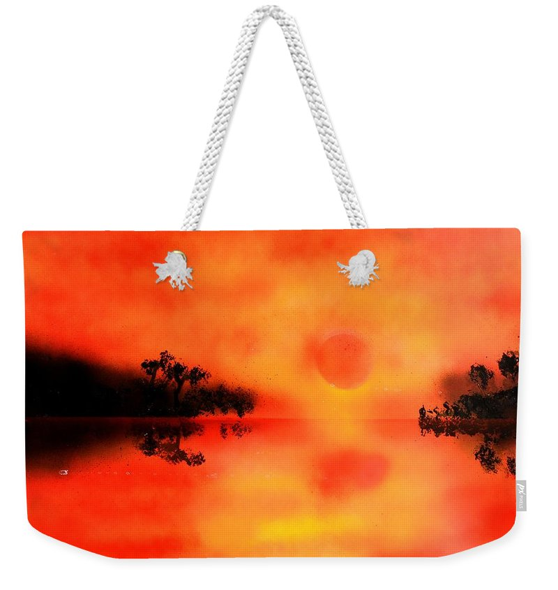 Fantasy Weekender Tote Bag featuring the painting Joy Of The Sun by Nandor Molnar