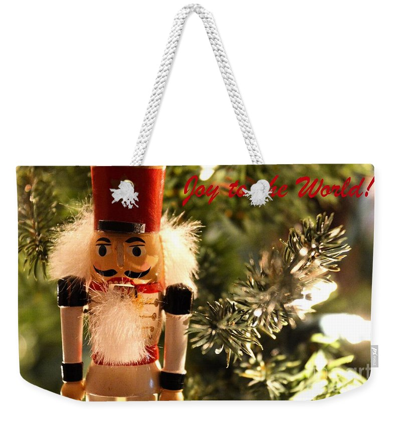 Greeting Card Weekender Tote Bag featuring the photograph Joy To The World by Lisa Kilby