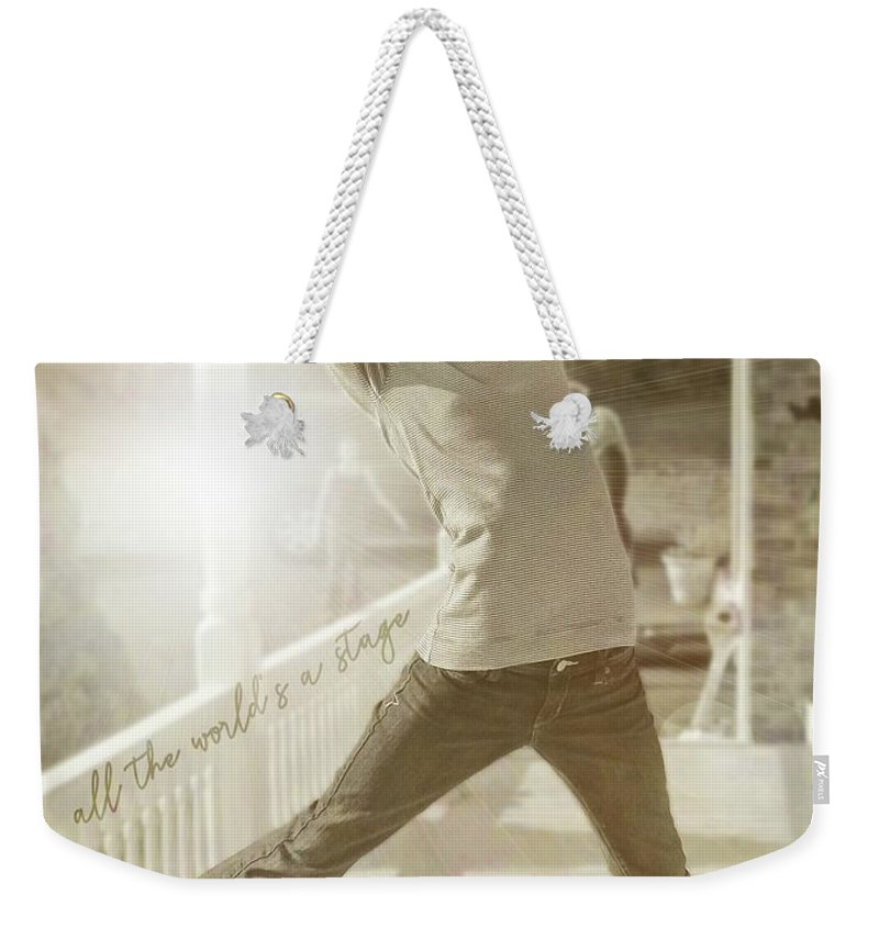 Leap Weekender Tote Bag featuring the photograph Joy To The World Quote by JAMART Photography