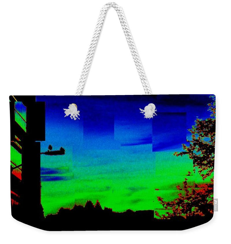 Sunset Weekender Tote Bag featuring the photograph Joyin The Sunset Together by Tim Allen