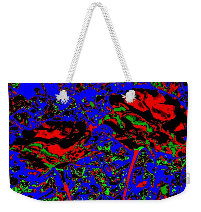 Abstract Weekender Tote Bag featuring the digital art Jubilation by Will Borden