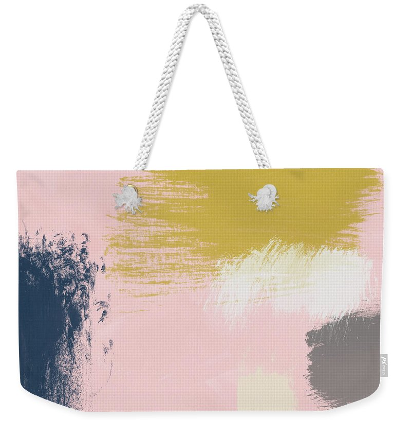 Abstract Weekender Tote Bag featuring the painting Jubilee Mix 3- Abstract Art By Linda Woods by Linda Woods