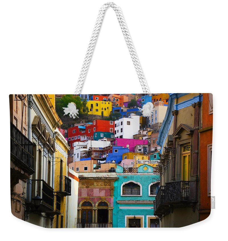 Architecture Weekender Tote Bag featuring the photograph Juegos In Guanajuato by Skip Hunt