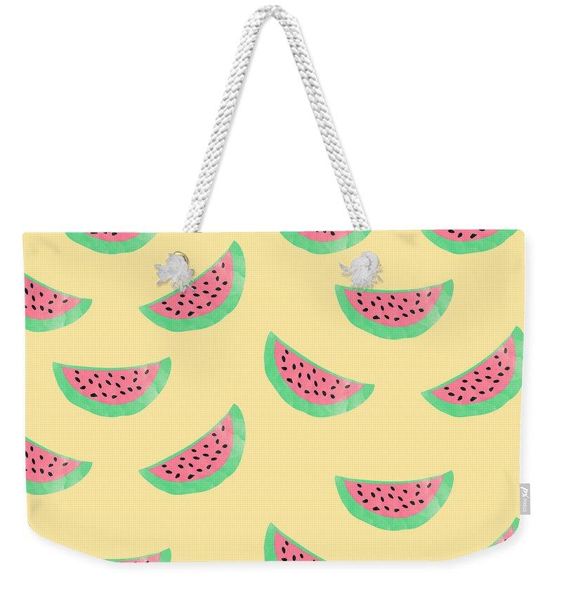 Melon Weekender Tote Bags