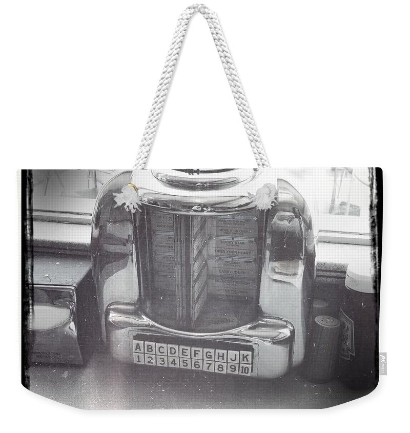 Juke Box Weekender Tote Bag featuring the photograph Juke Box by Nina Prommer