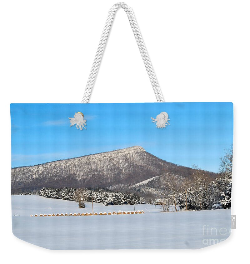 Jump Mountain Weekender Tote Bag featuring the photograph Jump Mountain by Todd Hostetter