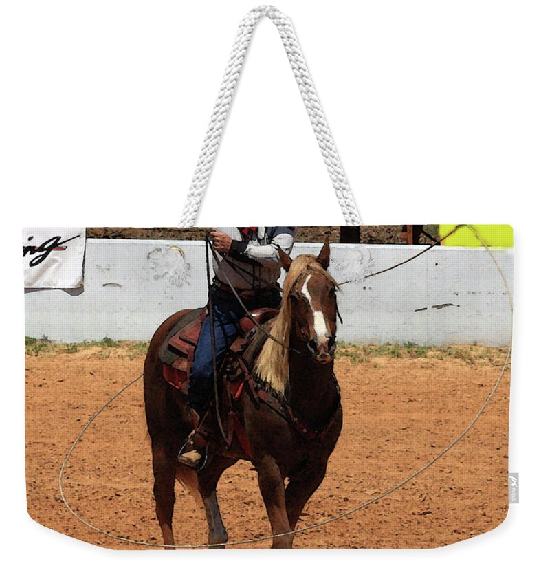 Western Entertainers Weekender Tote Bag featuring the photograph Jump Now by Kim Henderson