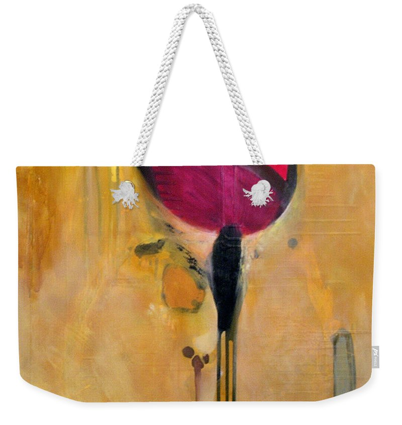 Abstract Weekender Tote Bag featuring the painting Jumpin Jehosaphat by Marlene Burns