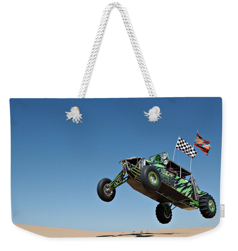 Dune Buggy Weekender Tote Bag featuring the photograph Jumping Hulk by Scott Sawyer