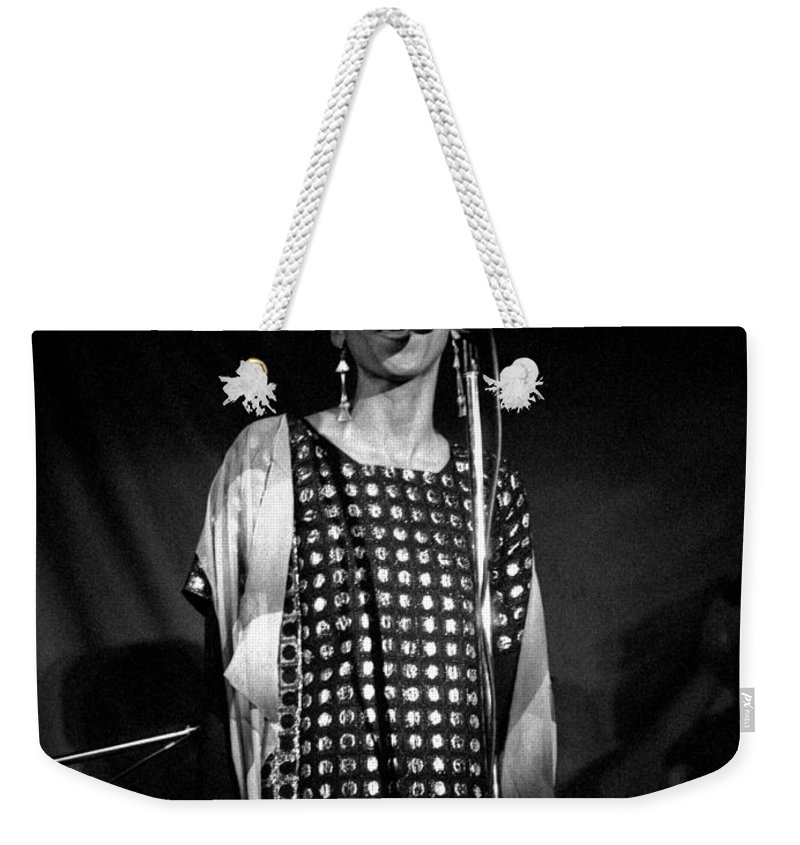 June Tyson Weekender Tote Bag featuring the photograph June Tyson by Lee Santa