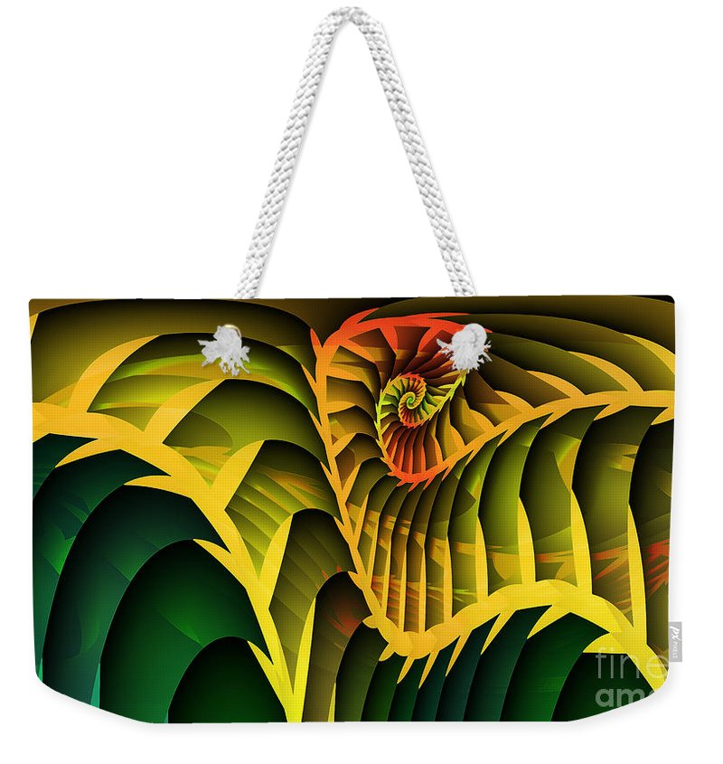 Fractal Weekender Tote Bag featuring the digital art Jungle by Jutta Maria Pusl