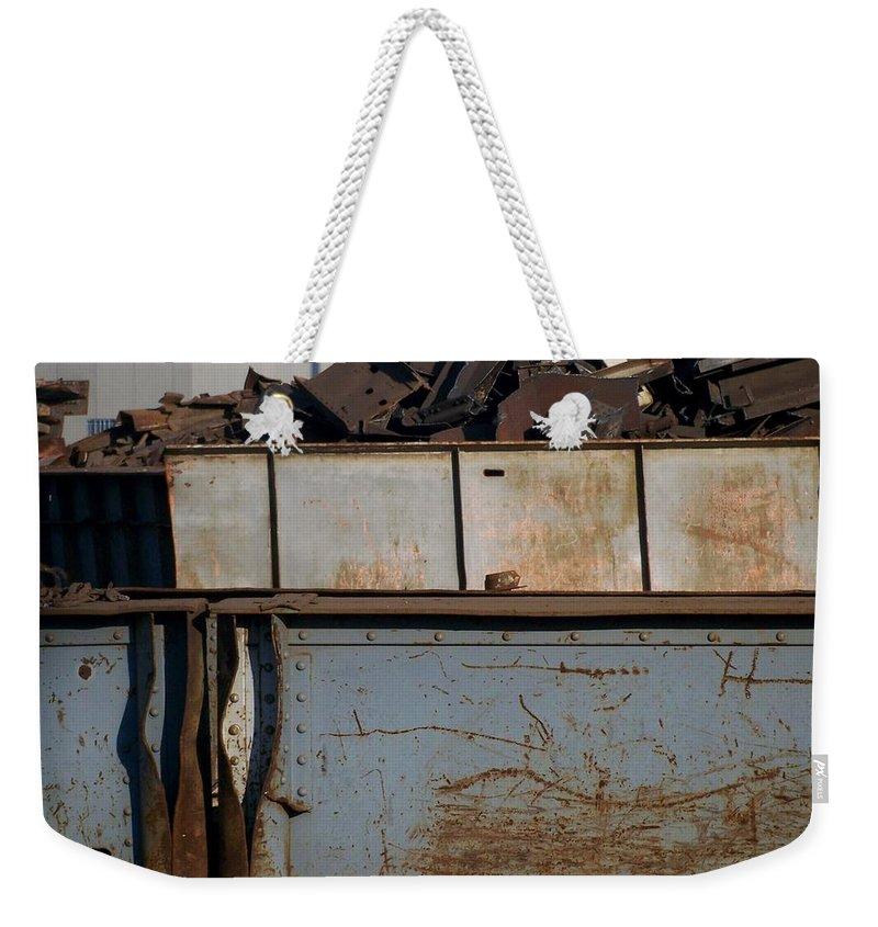 Junk Weekender Tote Bag featuring the photograph Junk 10 by Anita Burgermeister