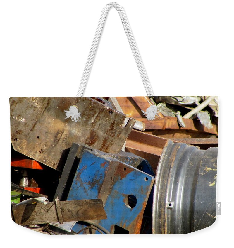 Photo Weekender Tote Bag featuring the photograph Junk 13 by Anita Burgermeister