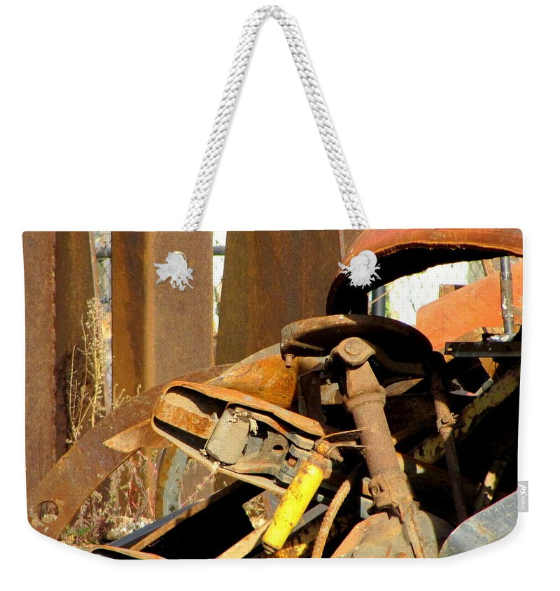 Photo Weekender Tote Bag featuring the photograph Junk 15 by Anita Burgermeister