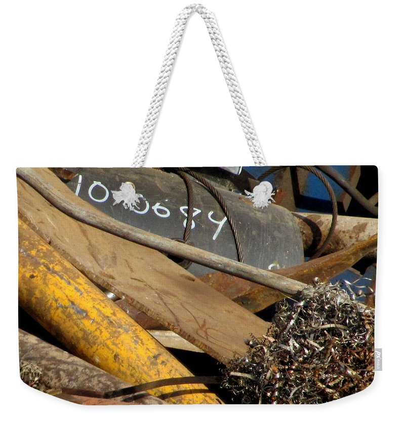 Photo Weekender Tote Bag featuring the photograph Junk 16 by Anita Burgermeister