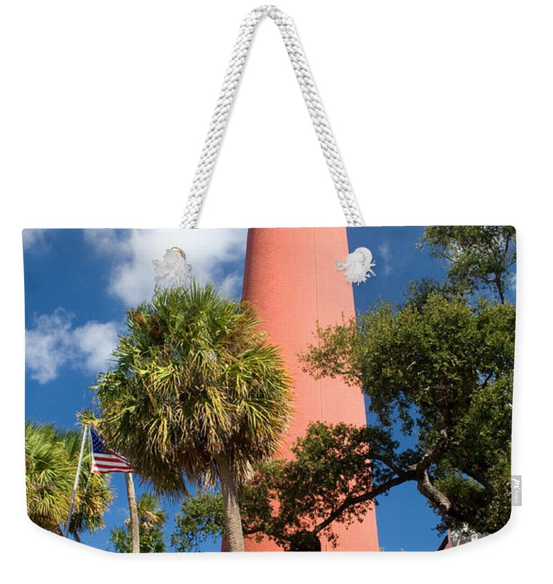 Lighthouse Weekender Tote Bag featuring the photograph Jupiter Lighthouse II by Thomas Marchessault