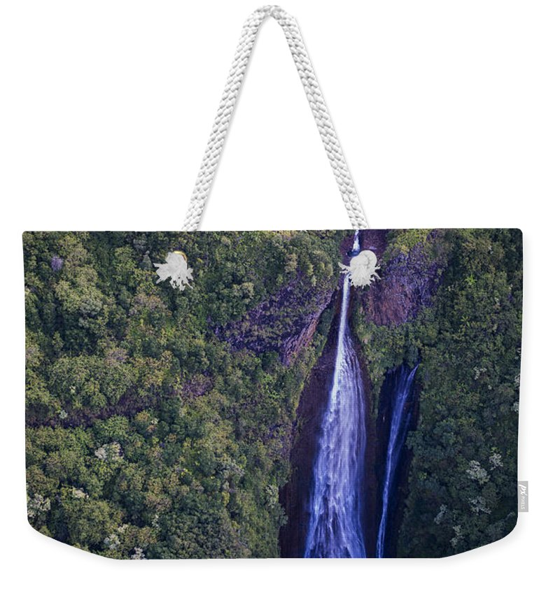 Cliffs Weekender Tote Bag featuring the photograph Jurassic Park Falls by Robert Potts