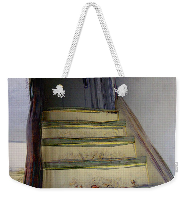 Antiquated Weekender Tote Bag featuring the digital art Just A Little Rickety by RC DeWinter