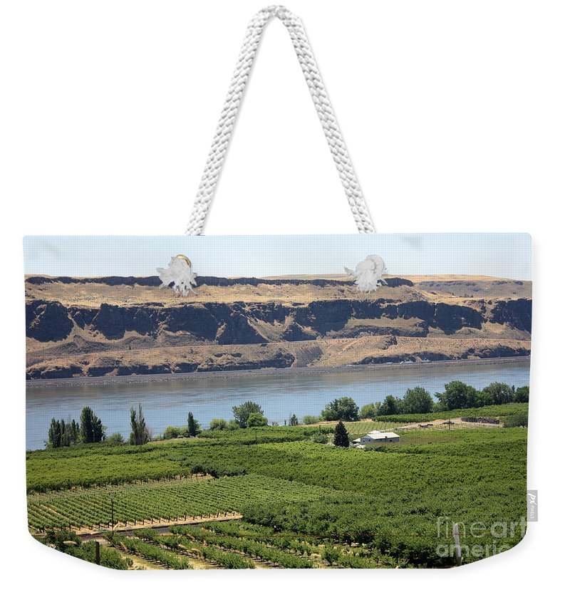 Columbia River Gorge Weekender Tote Bag featuring the photograph Just Add Water... by Carol Groenen