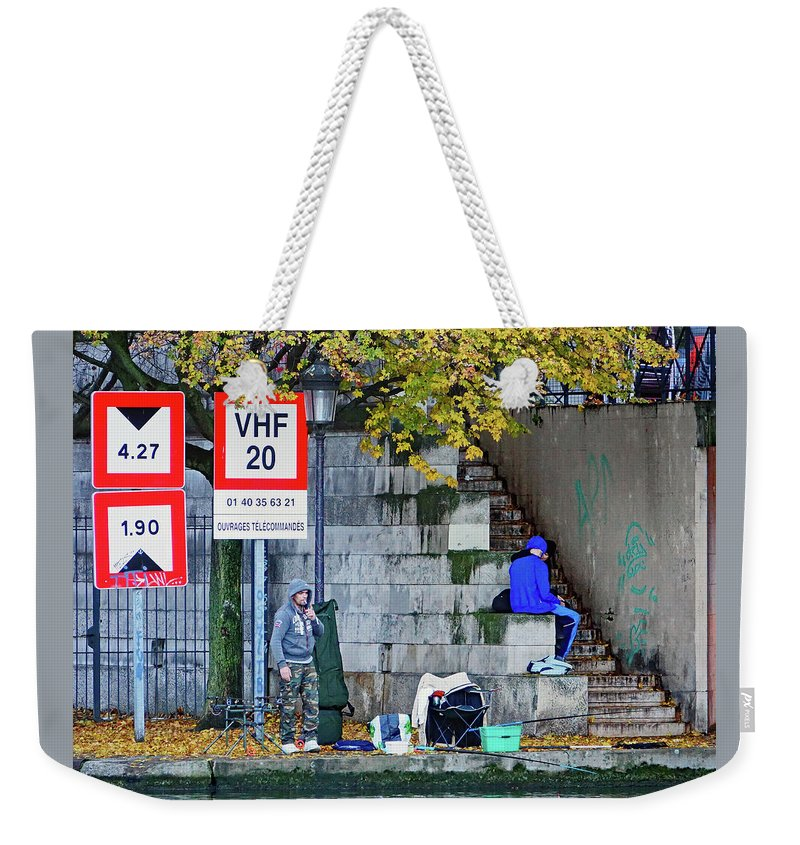 Paris Weekender Tote Bag featuring the photograph Just Another Day In The Hood 3 by Richard Rosenshein