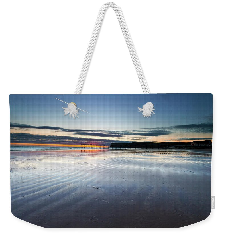 Beach Weekender Tote Bag featuring the photograph Just Before Sunrise by Stephen Dewhurst