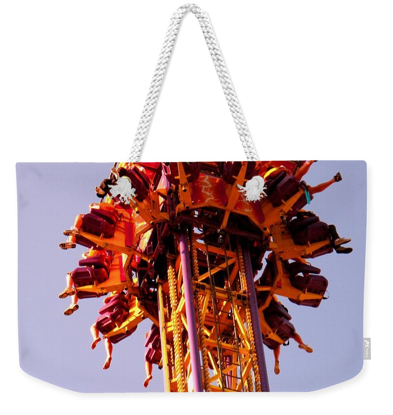 Canadian Weekender Tote Bag featuring the photograph Just Before The Drop by Ian MacDonald