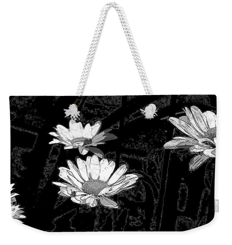 Daisies Weekender Tote Bag featuring the mixed media Just Daisies by Brenda Spencer