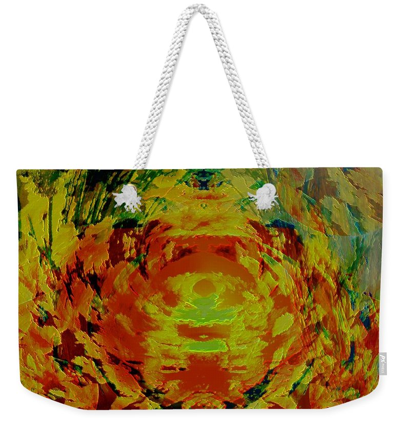 Flowers Weekender Tote Bag featuring the digital art Just Flowers by Helmut Rottler