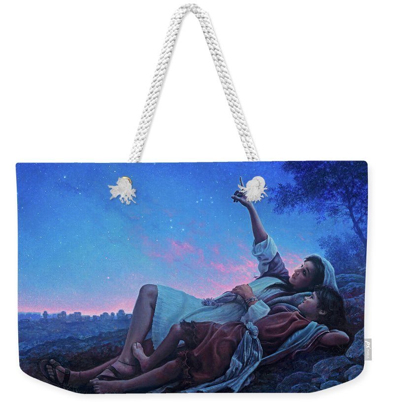 Jesus Weekender Tote Bag featuring the painting Just For A Moment by Greg Olsen