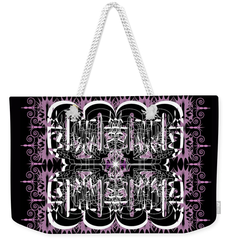 Abastract Weekender Tote Bag featuring the digital art Just For Fun 3 by George Pasini