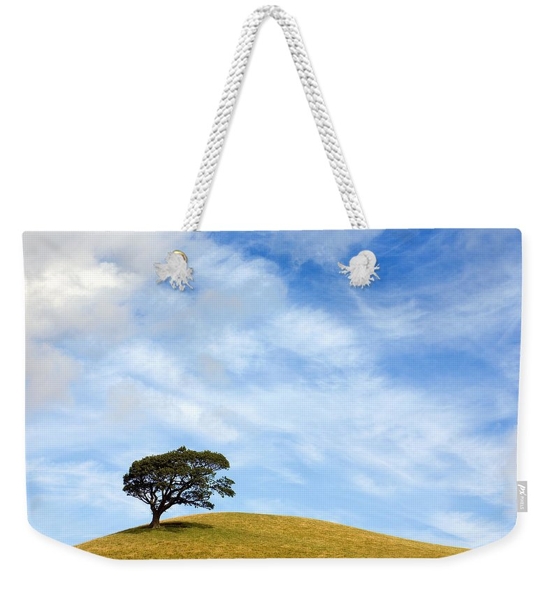 Landscape Weekender Tote Bag featuring the photograph Just One Tree Hill by Mal Bray